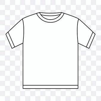 T-shirt_crew neck_white