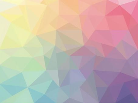 Iridescent polygon pattern gradient pattern background material