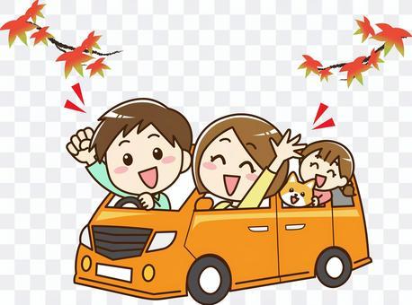 與家人一起開車· 秋季 01