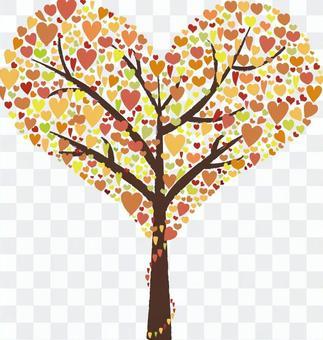 【請求】紅葉版心形樹