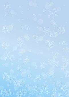 雪、結晶、背景、A4縦、塗足付