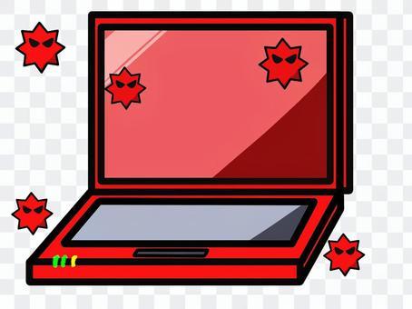 ノートパソコン(ウイルス感染)