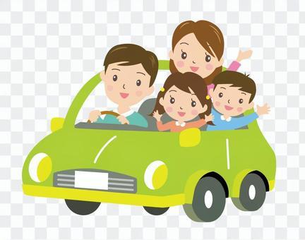 驾驶1(绿色)与家人