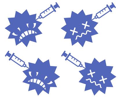 未接種疫苗的病毒系