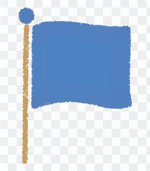 國旗_手繪_藍色