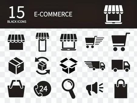 Online shop icon set