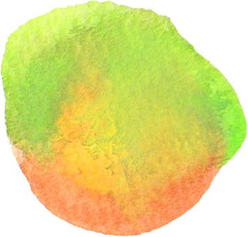 水著色橙色系統