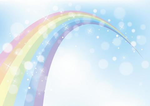 彩虹和天空背景素材02