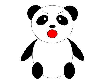 生氣的熊貓