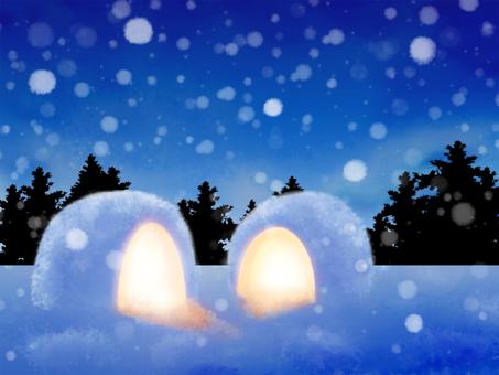 有鎌倉的樹木環繞的夜景