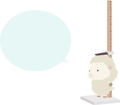 高度測量_sheep_white_speech氣球