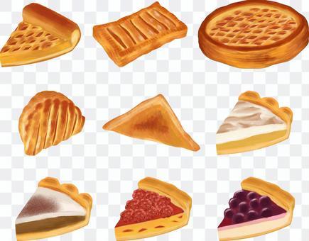 パイ ケーキイラストセット