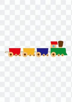 Wooden train (color)