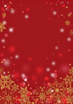クリスマス_金_赤縦背景2302