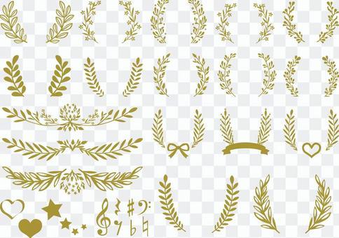Leaf Plant Frame Frame Border Frame Material Set Decoration
