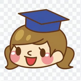 學士帽的女孩