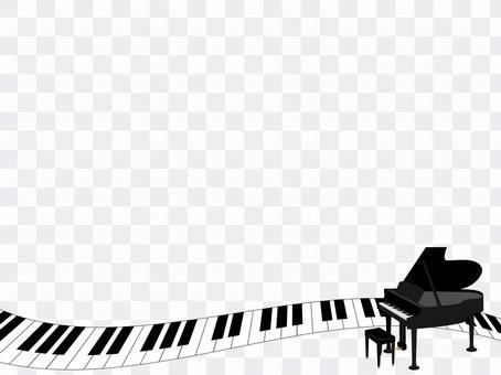鋼琴裝飾框架3