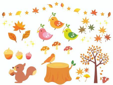 秋天的插圖集合