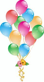 氣球和鮮花