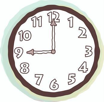 시계 9시