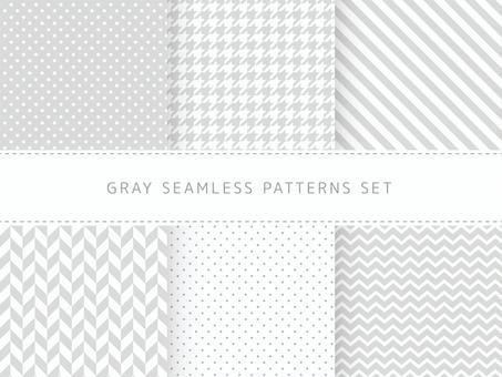 灰色無縫模式集
