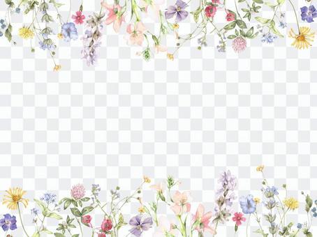 Flower frame 216 - Ornamental flower parade decorative frame