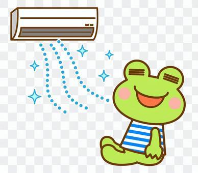 エアコン 夏 カエル 蛙