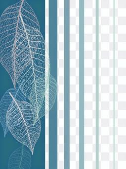 워터 마크 잎의 고급 프레임 (줄기 표본)