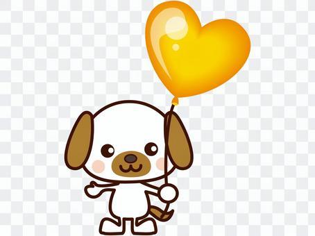 イヌと風船