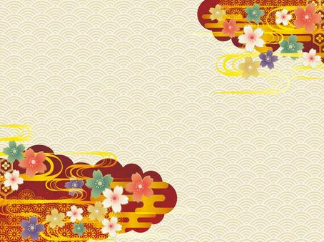 Japanese Pattern Background Material 003