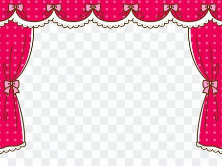 粉紅色的窗簾