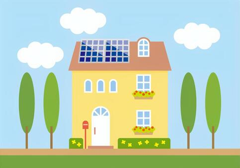 Eco power generation housing A 2 (solar roof top)