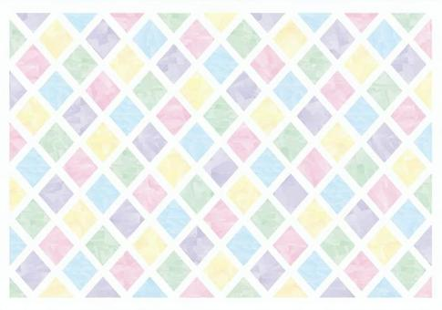 Watercolor style diamond pattern material 02