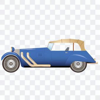 車側面20 クラシックカーのオープンカー