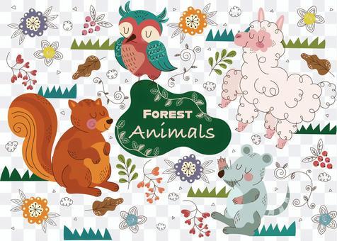 森林動物套裝2
