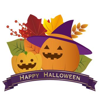 Halloween logo with Jack O Lantern
