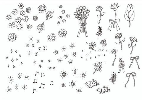 花和波光粼粼的材料