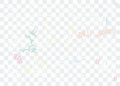 手寫的箭頭和手設置01
