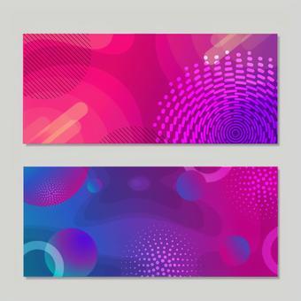 Gradient design banner