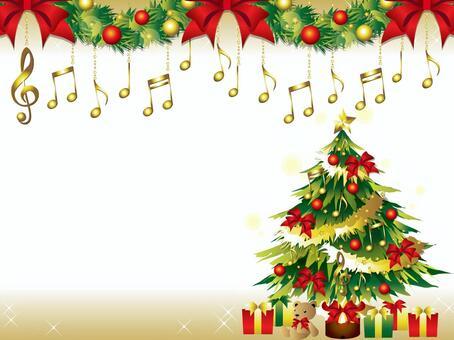 注意和聖誕樹框架