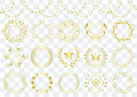 金色典雅裝飾框