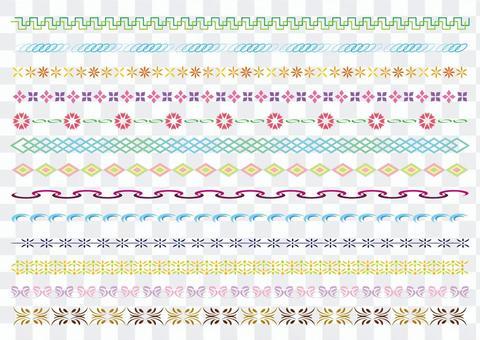 23行和裝飾規則集5種顏色A