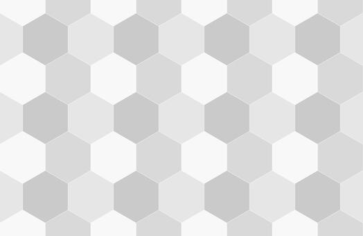 無縫六角蜂窩圖案背景灰色