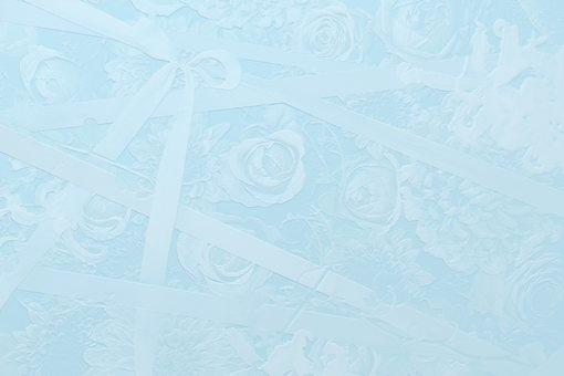3d 花和絲帶背景