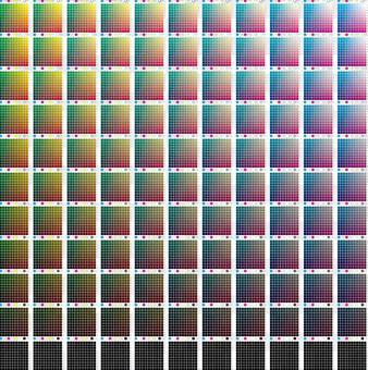 プロセスカラー  カラーチャート