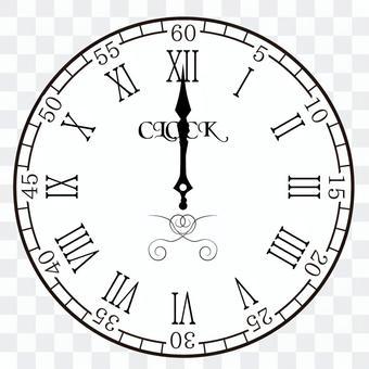 Clock 0:00 12:00 24:00