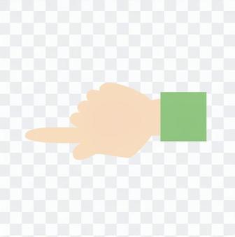 手 - 指向(左)