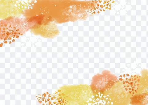 Watercolor material 086 Autumn watercolor frame