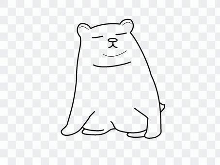 Cute bear coloring