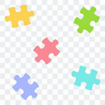 散らばったパズルピース02